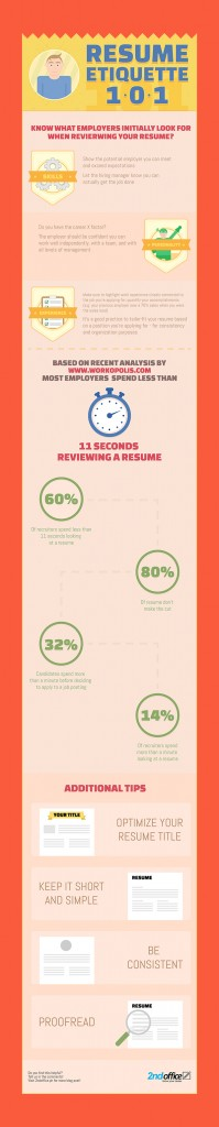 2nd Office Resume Infographic